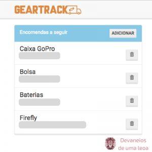 Geartrack-encomendas